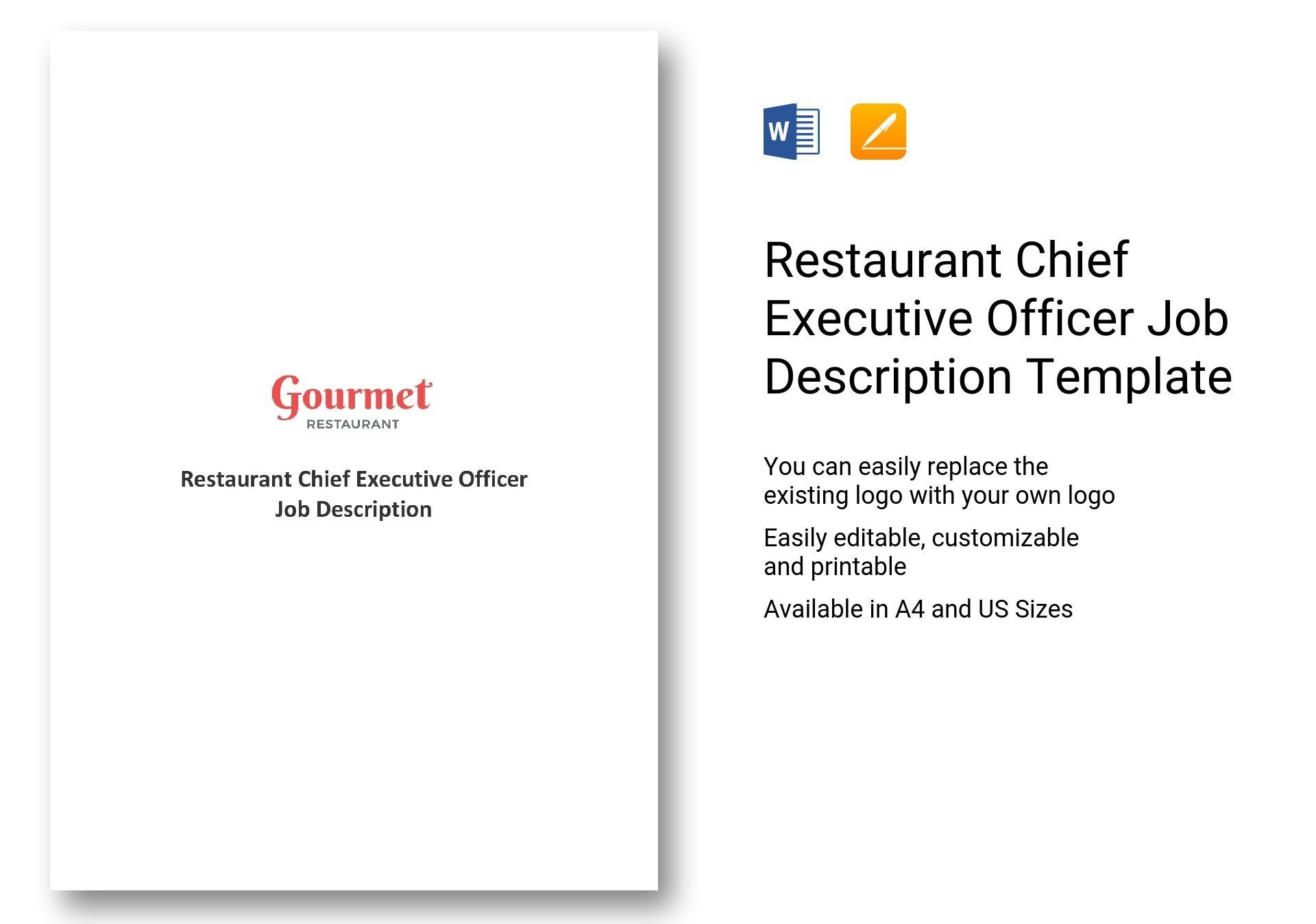 Chief Executive Officer Job Description Template Click Here To Download  This Template
