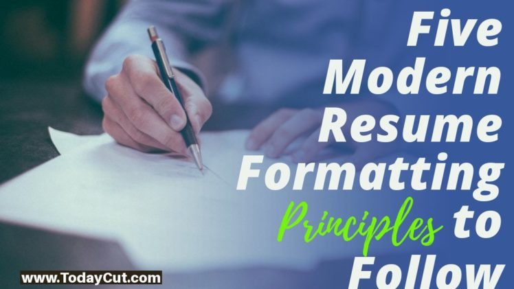 resume format principles