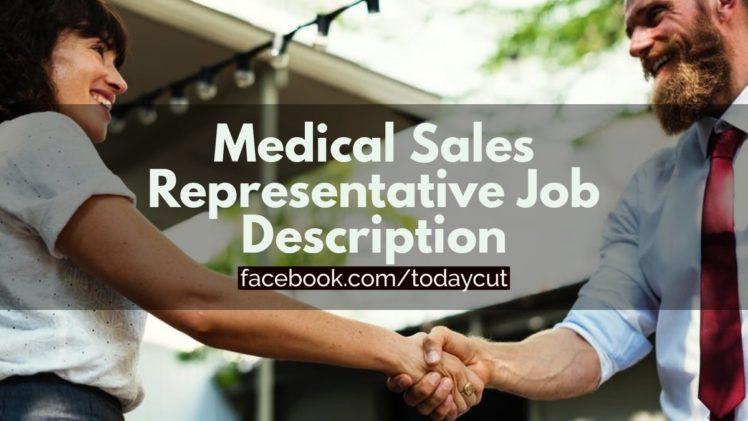 medical sales representative job description sample