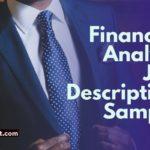Financial analyst job description sample