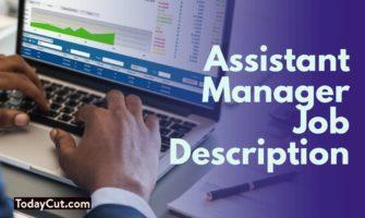 assistant manager job description