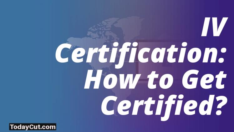 online IV certification
